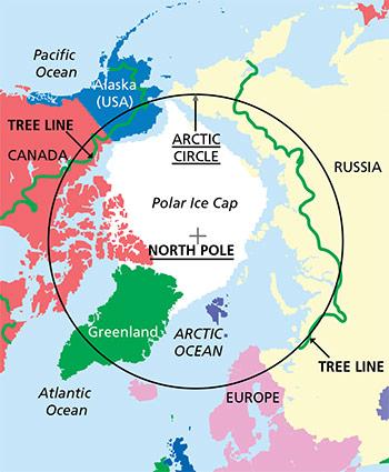 ReadyTest - Map of where polar bears live